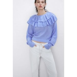 Zara Cropped pullover Top